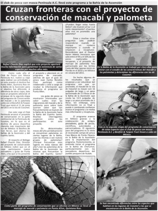 scanned image of newspaper article of Mexico article on tagging project